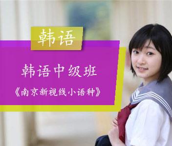 南京韩语中级班